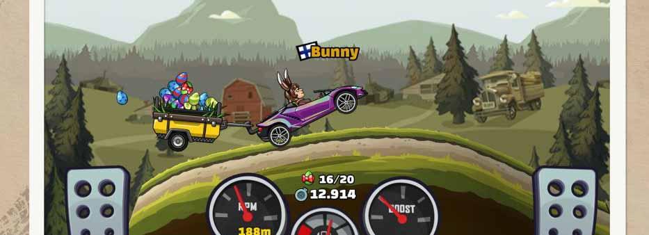 دانلود بازی Hill Climb Racing با پول بینهایت