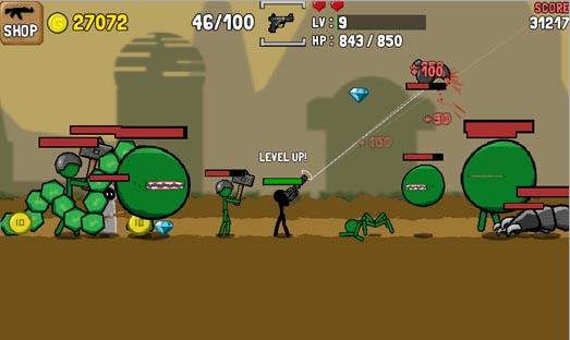 دانلود نسخه مود شده بازی آدمک و اسلحه Stickman And Gun اندروید