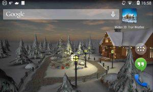 دانلود برنامه لایو والپیپر Winter 3D True Weather برای اندروید