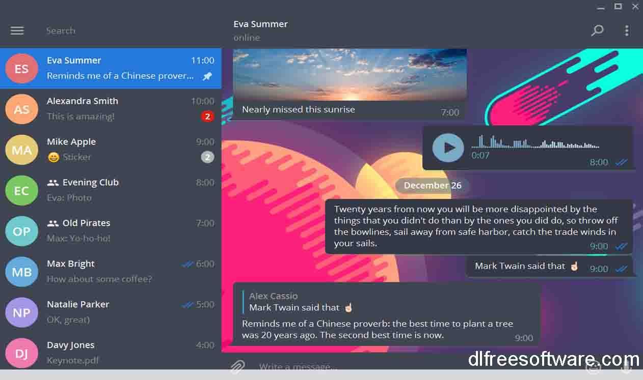 دانلود تم برای تلگرام ویندوز