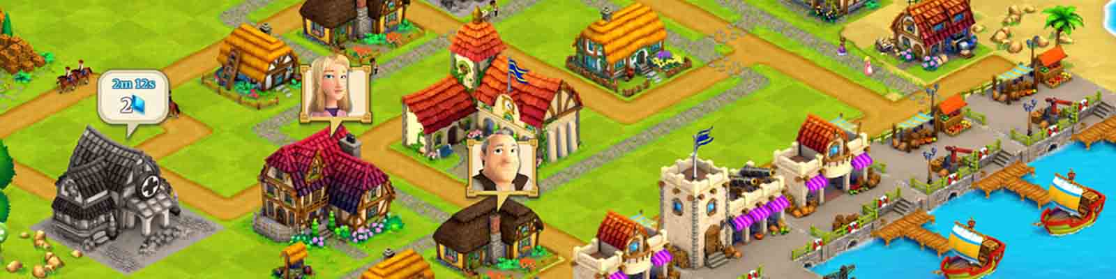 دانلود بازی مزرعه داری و شهرسازی Town Village با پول بی نهایت