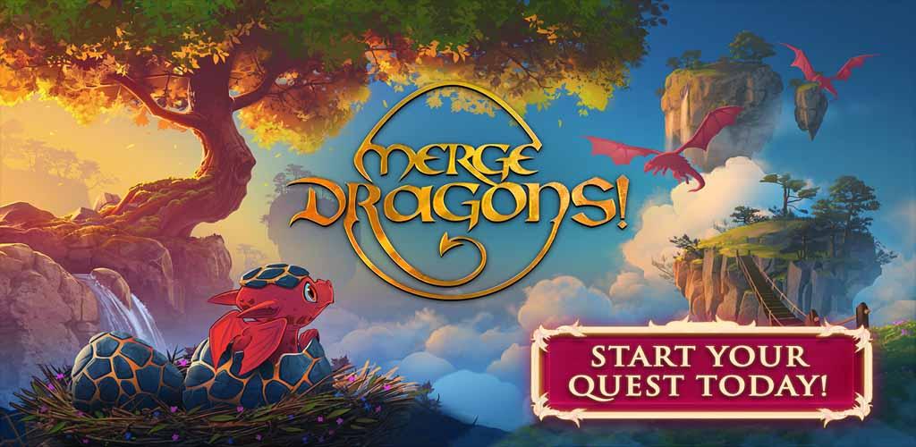 دانلود بازی پازل ترکیب اژادر Merge Dragons برای اندروید