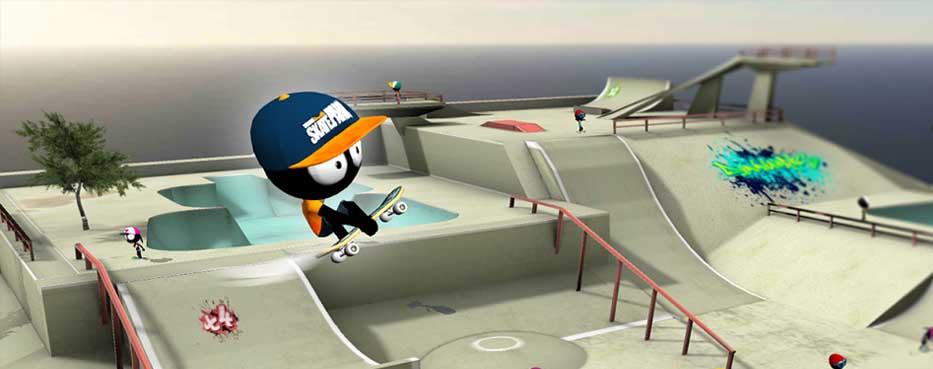 دانلود بازی Stickman Skate Battle اسکیت سواری ادمک اندروید
