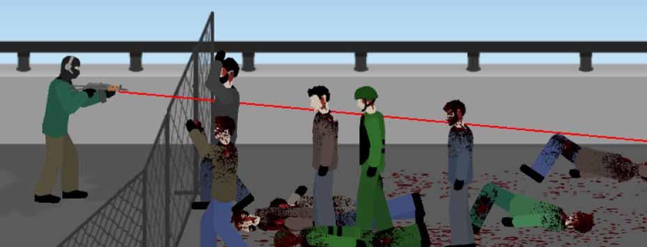 دانلود بازی زامبی های تشنه به خون Flat Zombies با پول بینهایت