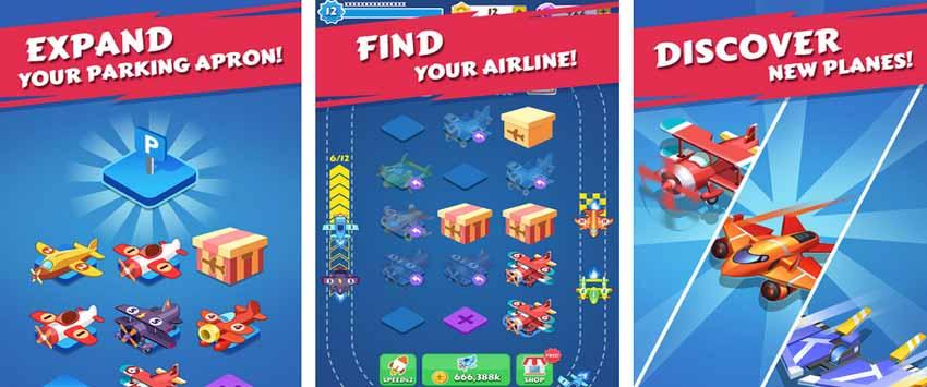دانلود بازی Merge Plane با پول بی نهایت