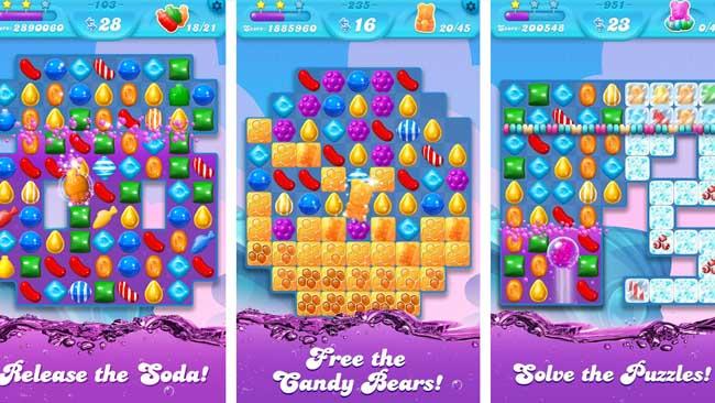دانلود بازی مود شده Candy Crush Soda Saga اندروید