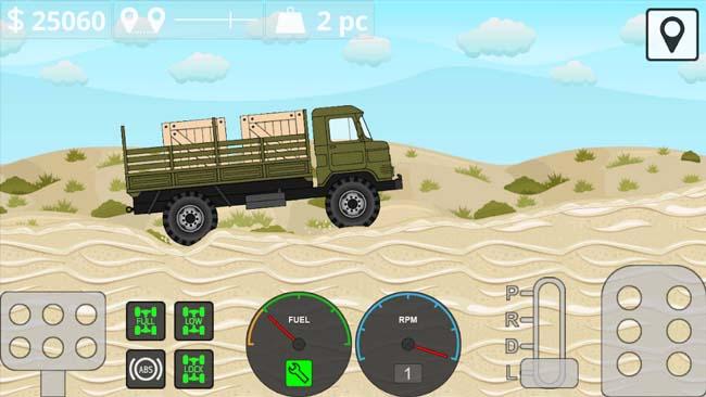 دانلود بازی مود شده Mini Trucker با پول بی نهایت